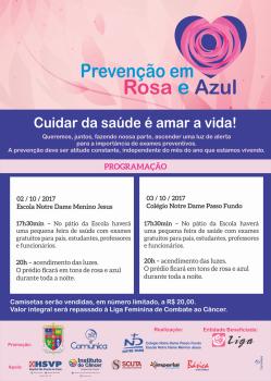 PREVENÇÃO EM ROSA E AZUL REDE NOTRE DAME-PASSO FUNDO
